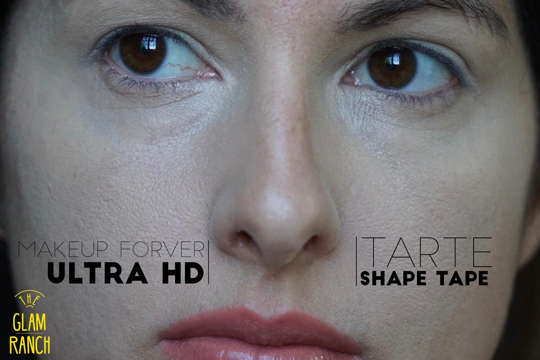 Concealer- makeup Forever- tarte shape Tape-the glam ranch